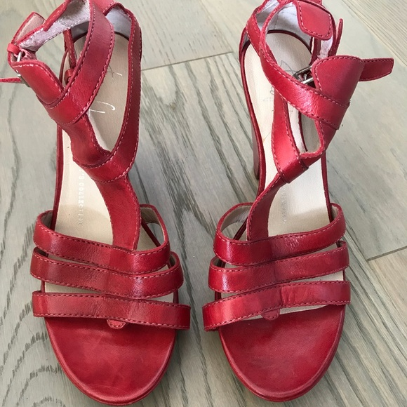 Franco Sparto red wooden like shoes